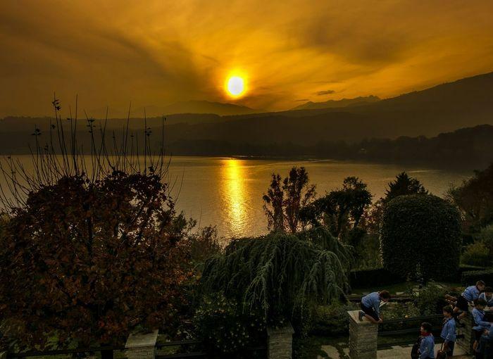 Sun... Yellow Lake Avigliana Sunset Sun Fuji Xm1