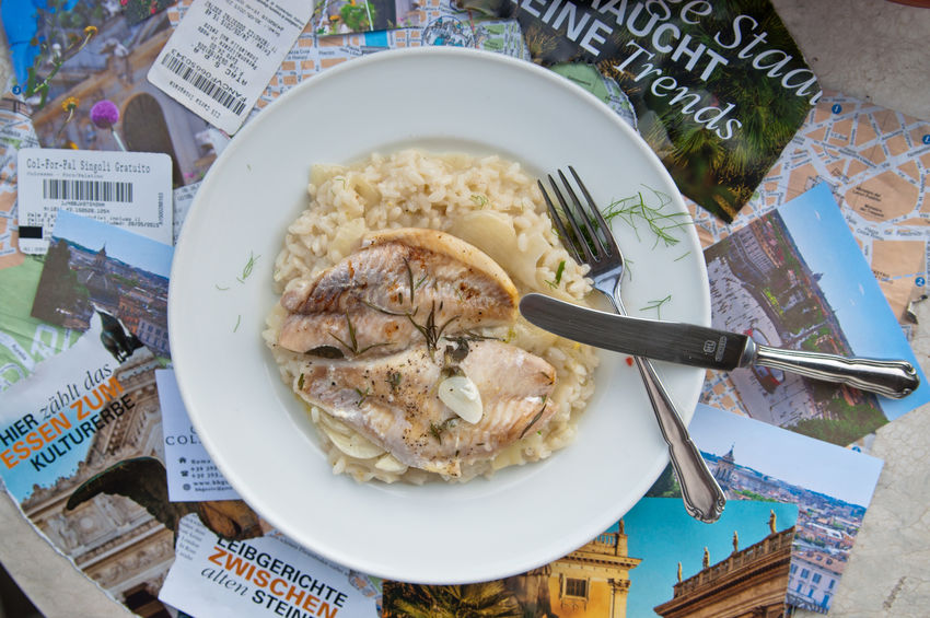 Rom Risotto Rice Italy❤️ Italian Food Foodstyling Foodphotography Foodpics Foodie Photography Rezept Fish Fenchelrisotto SEAFOOD🐡