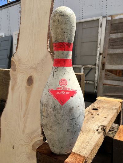 Bowling Bowling Pin Close-up Day No People Outdoors Red Wood - Material
