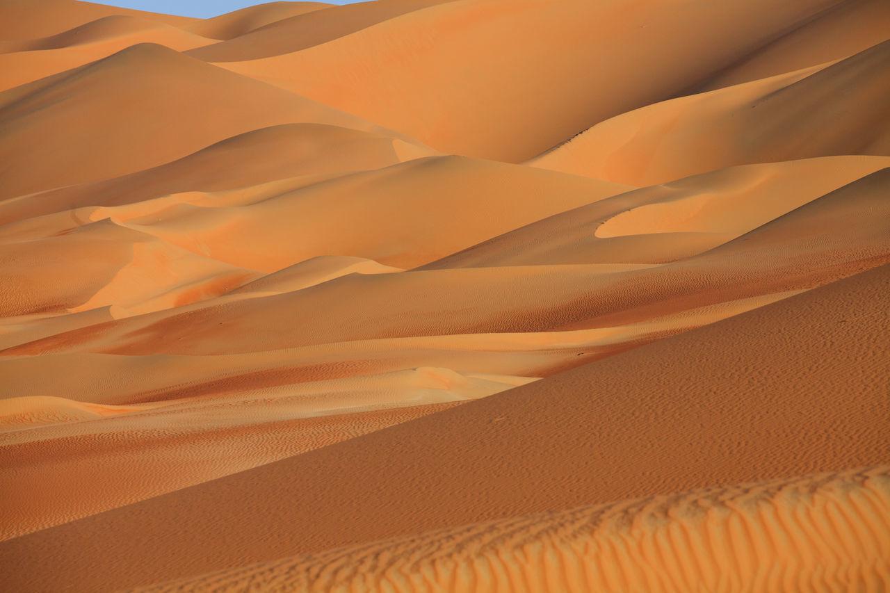 Full Frame Shot Of Sand Dunes In Desert