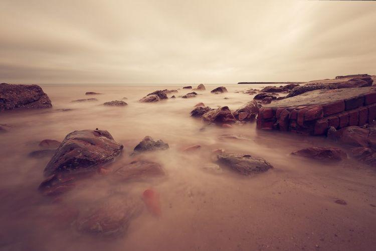 Sky Sea Water Beach Land Beauty In Nature Cloud - Sky