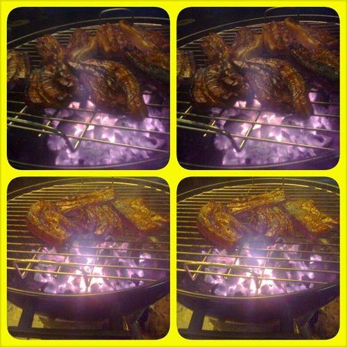 Keep your meat burning! Haha! Cooking101 Dinner Familyday NaAmazeAkosaIhawan