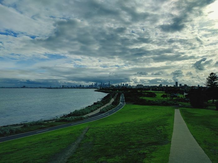 St Kilda, Victoria, Australia. Travel Australian Landscape Australia Cloud St Kilda Melbourne Seaside Background City Sky Grass Landscape Cloud - Sky EyeEmNewHere