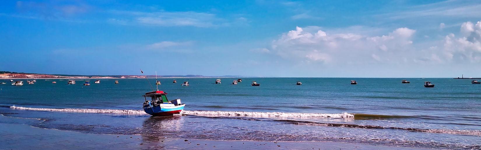 Baia Da Trai¢ao Paraíba Beach Brasil Horizon Horizon Over Water Outdoors Real People Sea Sky Water