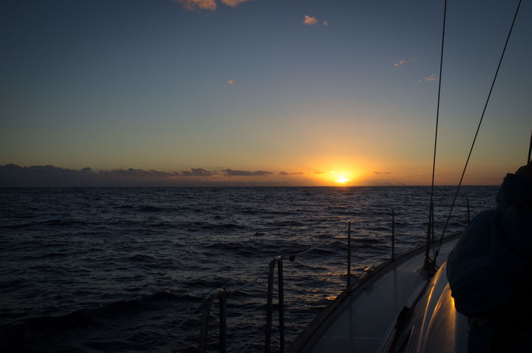 Beauty In Nature Boat Deck Day Horizon Over Water Journey Nature Nautical Vessel No People Ocean Outdoors Sailing Scenics Sea Sky Sun Sunset Travel Travel Destinations Vacations Water Yacht