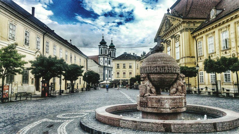 City City Life Szekesfehervar Hungary Street Streetphotography Art Cloud - Sky Blueclouds Bluecloudysky