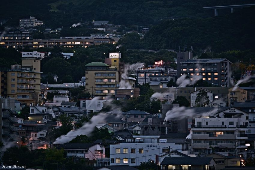 大分県別府市…湯けむり展望台 Beppu Oita EyeEm Best Shots EyeEm Selects EyeEmNewHere EyeEm Gallery Architecture Building Exterior Built Structure City High Angle View Building Nature No People