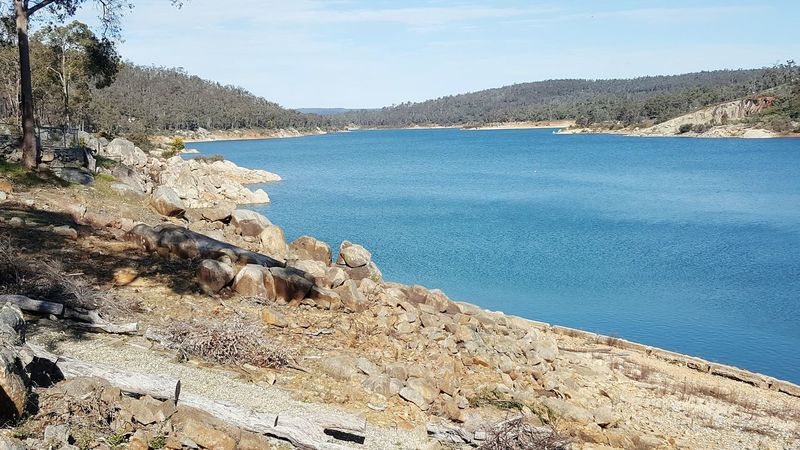 Mundaring Weir Perth Australia Water Tranquil Scene Tranquility Scenics Mountain Lake Sky Beauty In Nature Nature Blue Day Remote Non-urban Scene Outdoors Sea Solitude No People Rocky Mountains Rock Formation Mountain Range River