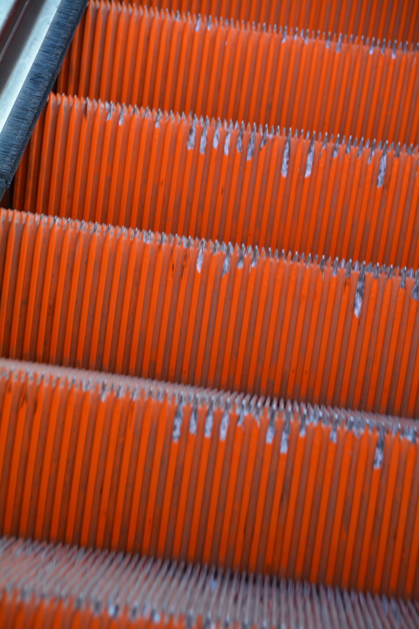 orange color, in a row, backgrounds, no people, day, indoors, close-up