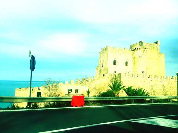 Ancient Castle Sea Calabria Goodday Taking Photos Italy