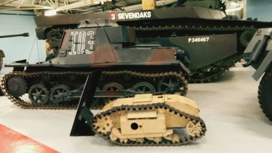 Tanks . Featuring Transportation Wheel Track No People Day Industry History History Coming To Life Military Museum World War United Kingdom Indoors  Tank Museum Inside Weapon