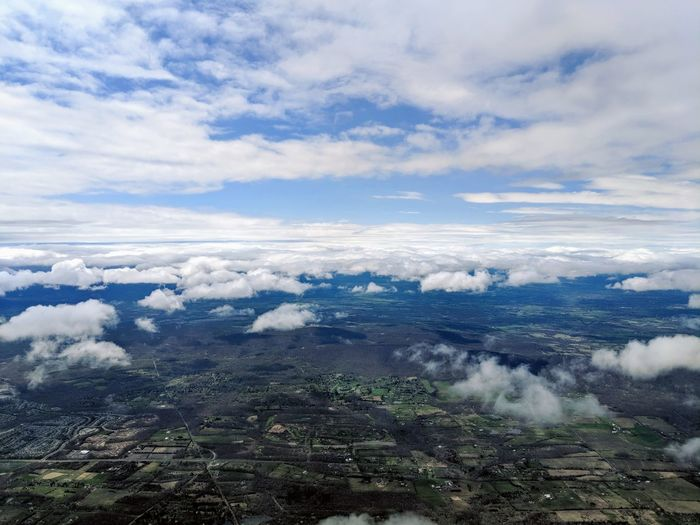 High Angle View Of Clouds Over Mountain