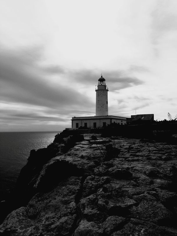 B&W.... Mola lighthouse Formentera island.