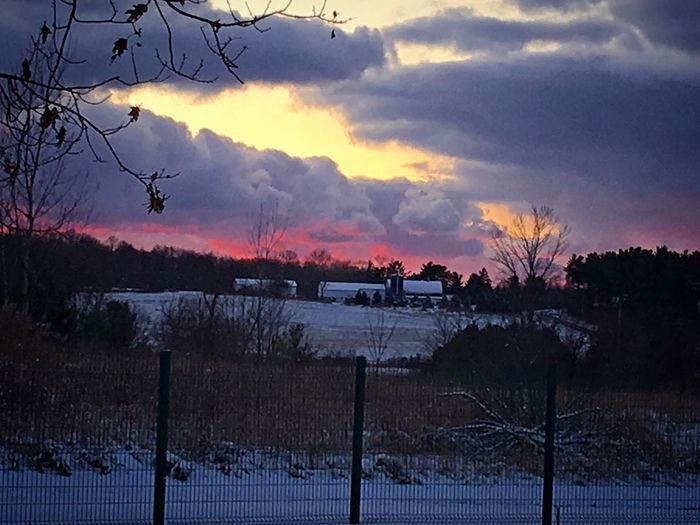 Winter Sunset First Snowfall 2015 Burr It's Cold!