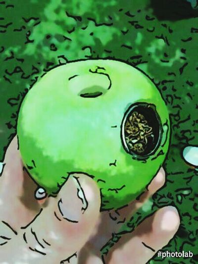 ApplePipe Green Color Apple Applepipe Smoking And Chilling Smoking Invention
