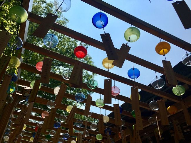 Colorful Wind-bell Sumer Shrine July 2017