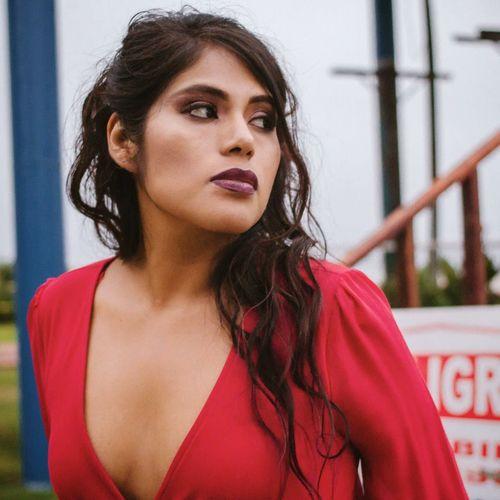 EyeEm Selects Young Women Portrait Beautiful Woman Red Beautiful People City Women Headshot Long Hair Females
