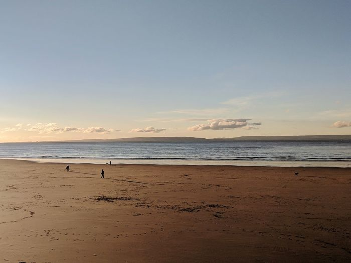 Morning Morning Morning Light Beach Sea Sea And Sky Wales Seasise Beach Sand Sea Sky Horizon Over Water Nature Sunset Water Tranquility Scenics Landscape Outdoors Tranquil Scene