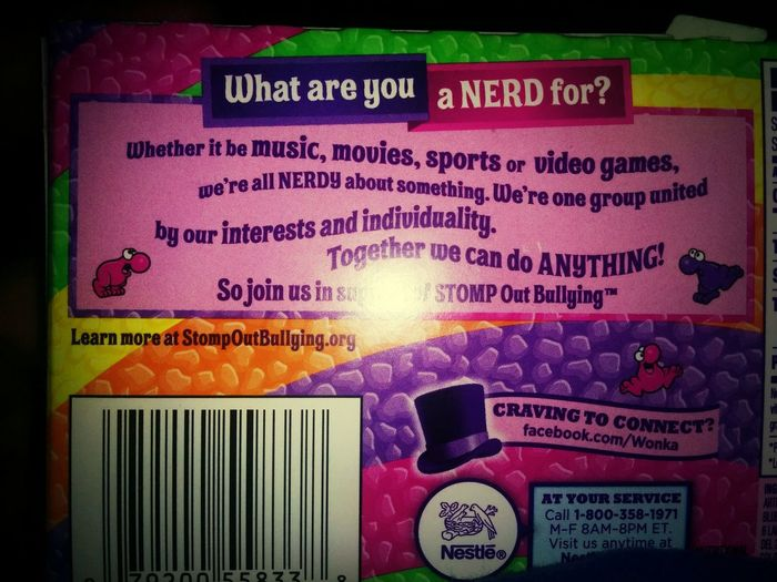 What are you a nerd for? Candy Wonka Nerds !! :)