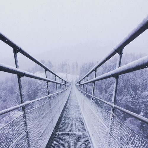 Snow Bridge Bridge In The Snow Weather Cold Temperature The Way Forward Fog Bridge - Man Made Structure Outdoors No People Germany