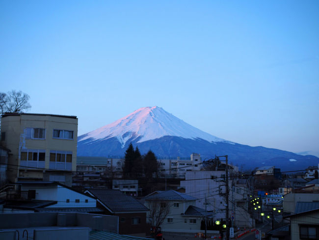 Volcano Snow Mountain Cold Temperature Blue Travel Destinations Landscape Fujisan Kawaguchiko Kawakuchi Japan Sky The Great Outdoors - 2017 EyeEm Awards