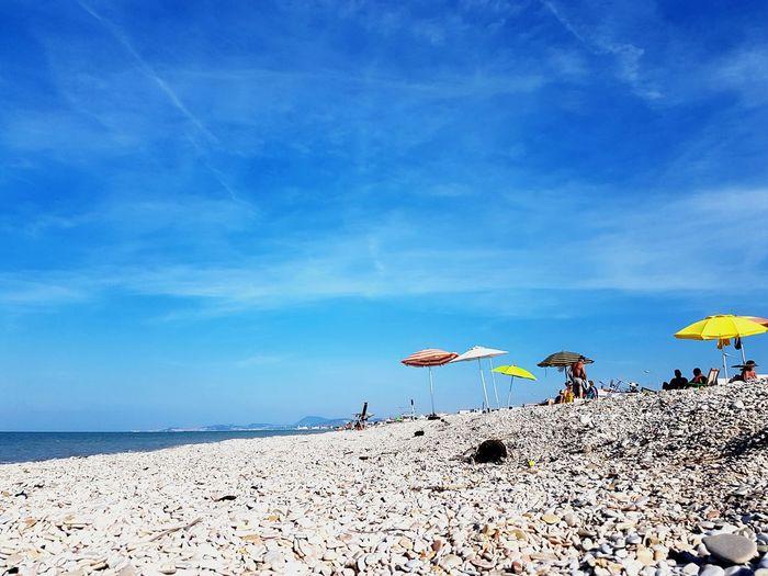 Flying Beach Parachute Sea Sand Blue Summer Flamingo Sky Cloud - Sky