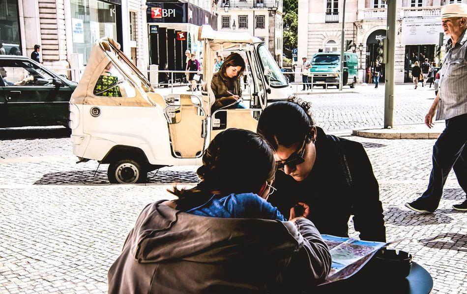 Portrait Of People Lisboa Streetphotography TukTuk Color Portrait Riddle Scenery Shots Waiting For You City Map Looking For Orientation