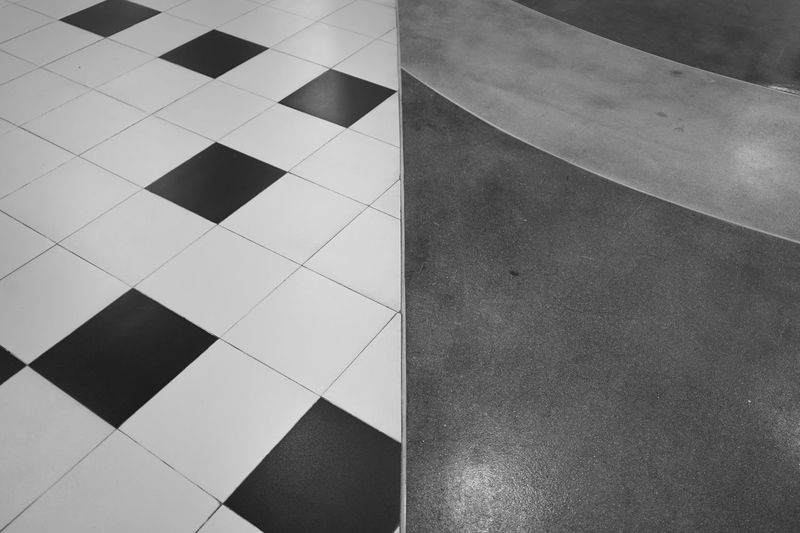 Close-up of tiled floor