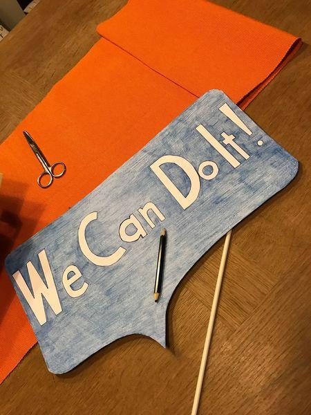 Human Hand Handmade Orange And Blue Table No People We Can Do It Girls Power My Work EyeEmNewHere EyeEmNewHere