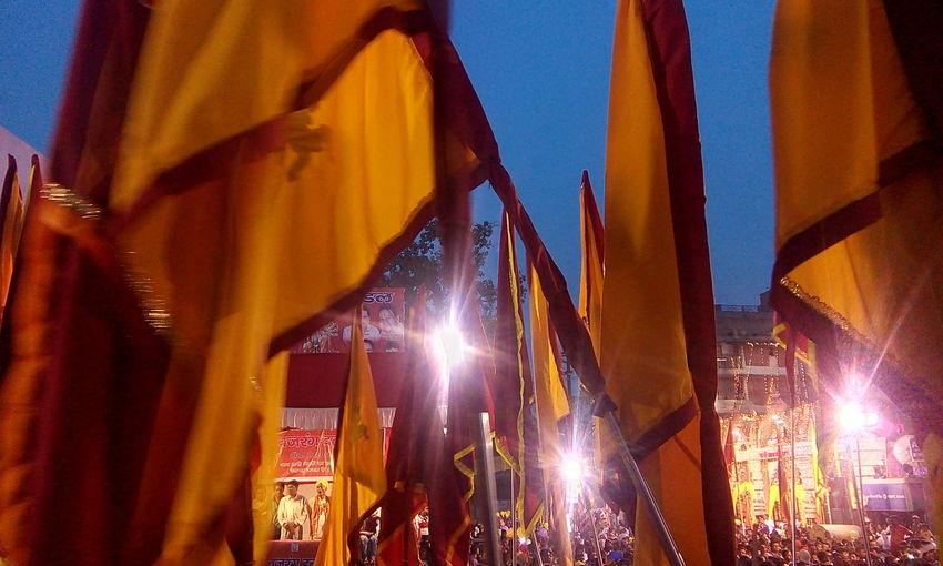 Ramnavmi Festival in India Beautiful Flags