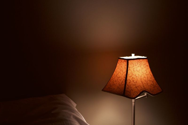Bed Bedroom Close-up Day Electric Lamp Floor Lamp Home Interior Home Showcase Interior Illuminated Indoors  Lamp Shade  Lighting Equipment No People Pillow Side Table