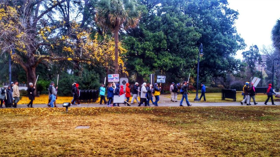 Anti-Trump Rally at the State House 12/19/16 (in HDR, 3/14) -- see the non-hdr version here: @simplepoetography. Hdr_Collection Hdr Edit Protest Protesters Protesting People Real People Large Group Of People Tree Men Women Outdoors Growth Nature Day City Buildings Urban Urban Geometry Photojournalism December Gloomy Day Gloomy Weather Autumn