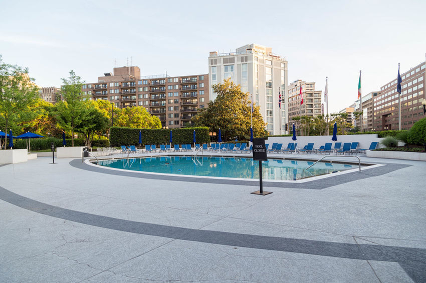 Hotel swimming pool... America Architecture Building Exterior Built Structure City City City Life Day No People Outdoors Pool Sky Skyscraper Swimming Pool Travel Travel Photo Travel Photographer Travel Photography Travel Photos Tree USA USAtrip Washington DC Washington, D. C. Water