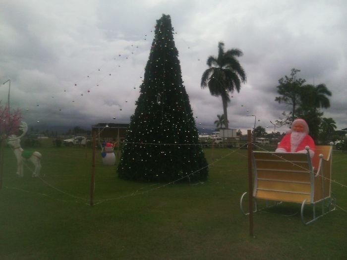 Santa came early to the tropics :D Hehe! Decor at Angau General Hospital Christmas Tree Frosty The Snowman Christmas Spirit Papua New Guinea
