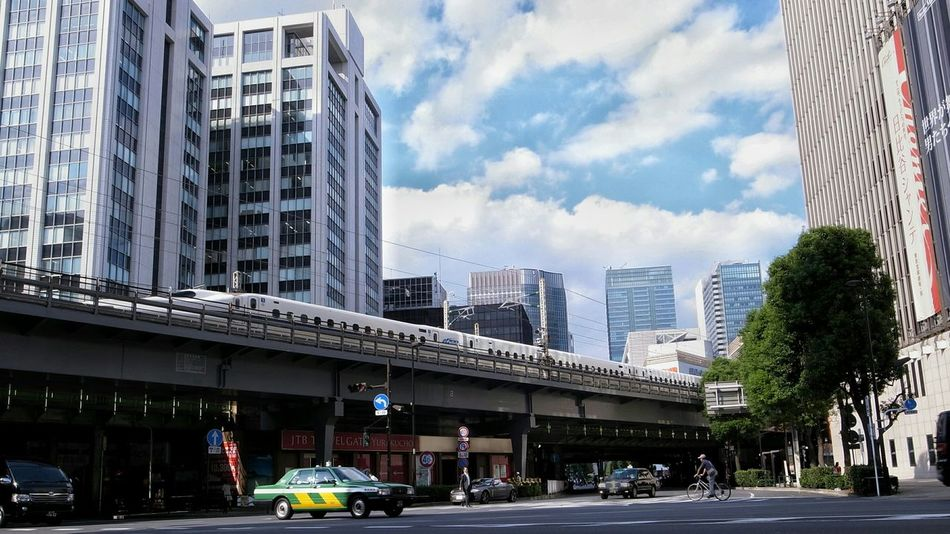 Tokyo Landscape Crossing On The Road Urban Landscape Urbanphotography Buildings & Sky Shinkansen From My Point Of View