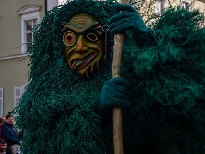 Green Color Close-up Representation Portrait Celebration Focus On Foreground Day Disguise Creativity Looking At Camera Costume Monster - Fictional Character Mask No People Art And Craft Outdoors Mask - Disguise Spooky Fun