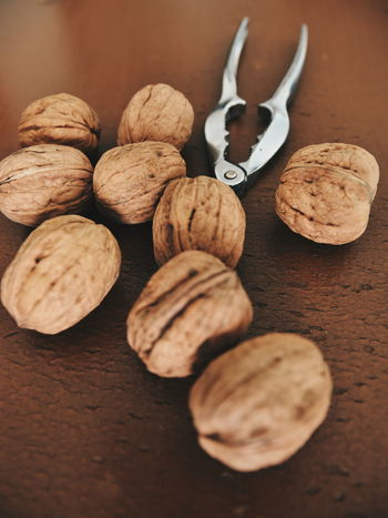 Healthy Snacks Snacks! Dry Food Walnuts Nuts Nutshell Walnut Shell Nut Cracker Christmas Time Brown Colour One Colour Healthy Eating Healhty Lifestyles On The Table Ready-to-eat Food And Drink Close-up