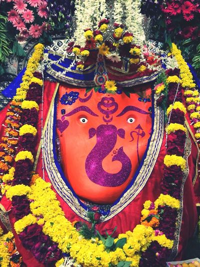 Multi Colored Ganesha Art And Craft Ganeshfestival