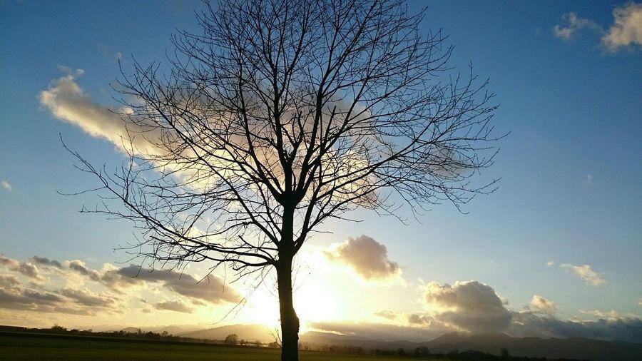 Landscape Sun Shaft Nature Clouds