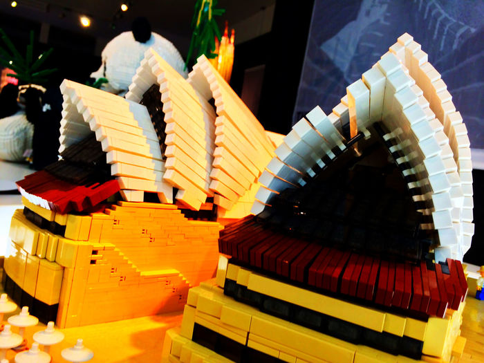 レゴ LEGO の シドニー Sydney オペラハウス Sydney Opera House 。やっぱり海とか景観が欲しいところ。