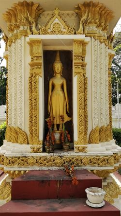 Sisaket Temple, Vientiane, Laos Buddha Vientiane, Laos Architecture Art And Craft Buddha Statue Buddhism Buddhist Temple Day Gold Gold Colored Human Representation Idol Indoors  Laos Laos Travel Male Likeness No People Place Of Worship Religion Sculpture Sisaket Spirituality Statue Statues Temple