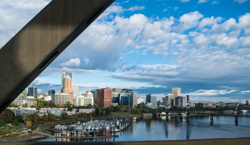 Atmospheric Mood Building Exterior Cityscapes Cloud Cloud - Sky Cloudy Development Dramatic Sky Dusk Engineering Human Settlement Modern Moody Sky Outdoors Overcast Perspective Portland, OR Reflection Residential District Sky Streamzoofamily Sunset Waterfront Seeing The Sights Landscapes With WhiteWall