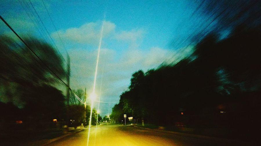 Driving Driving Around City Block Rollin City Street Night Life Cruzing Tree Illuminated Spraying Sky Vehicle Crosswalk #FREIHEITBERLIN EyeEmNewHere