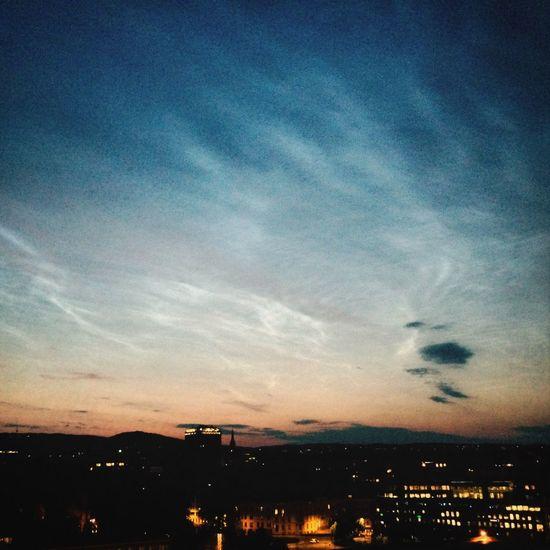 City Lights Bright Night Summer ☀ Roof Top