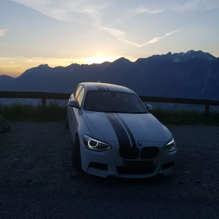 Sunset over the Nordkette. Mountain Car Transportation No People Landscape Sunset Outdoors Sky Dusk Bmw Austria Oesterreich Nordkette Tirol