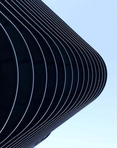 Minimalist Architecture The Graphic City Pattern, Texture, Shape And Form Architecture Blue Building Exterior Built Structure City Clear Sky Close-up Day Minimal Minimalism Minimalobsession Modern No People Outdoors Sky The Architect - 2018 EyeEm Awards