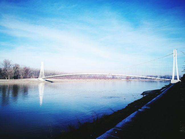 Bridge River Sky Cloud - Sky Drava Bridge Osijek, Croatia