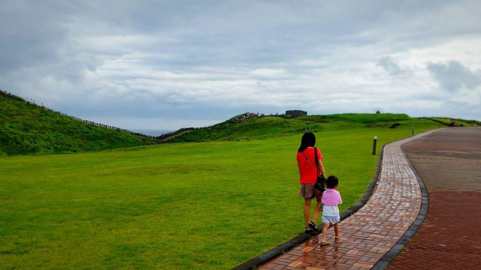 Rear View Cloud - Sky Outdoors Beauty In Nature JEJU ISLAND  South Korea Rainy Day