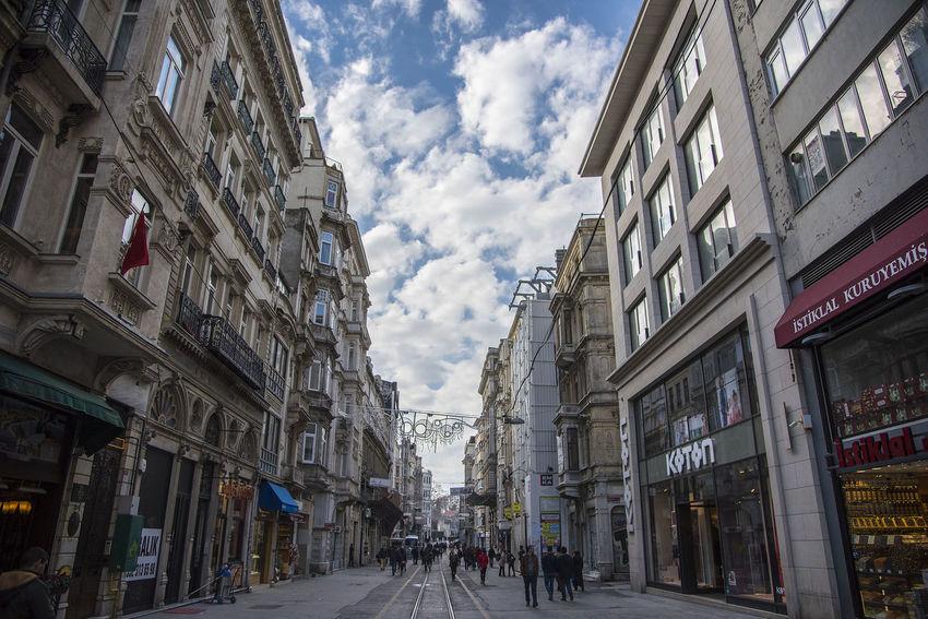 City Cloud - Sky Day Outdoors Road Sky Street Taksim Istiklal Taksim Square Taksimbeyoglu Walking