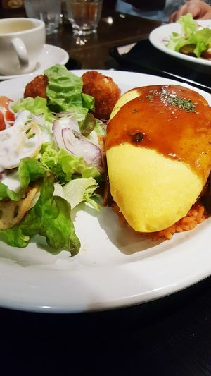 Omelette rice from nagoya station Food Close-up Freshness Ready-to-eat Garnish Fried Egg Meal Omurice